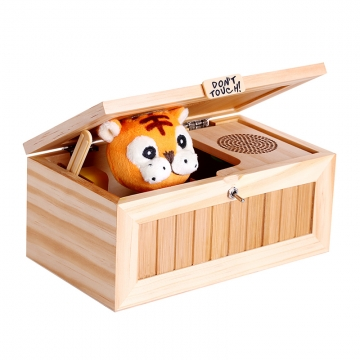 Leave Me Alone Box Most Useless Machine Don't Touch Tiger Toy Gift as picture one size