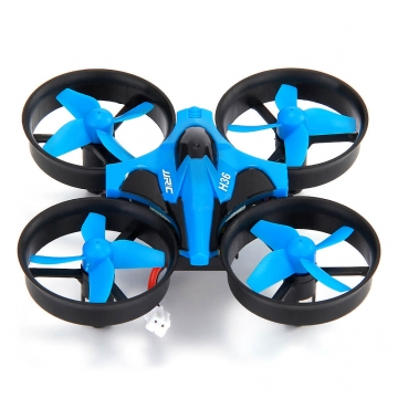 Mini JJRC H36 6-axis Gyro Headless Mode RC Quadcopter RTF 2.4GHz Blue vs E010 blue one size