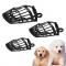 Adjustable Nylon Basket Cage Muzzle for Pet Dog Fashion Muzzle 7 Size black #2