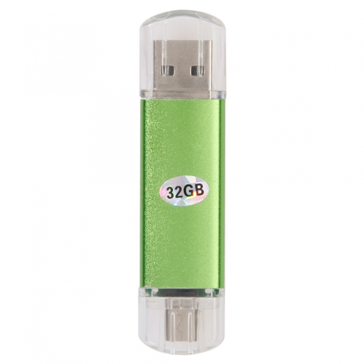 32 GB Micro USB 2.0 Flash Drive Android Smart Phone Tablet PC OTG Memory Stick green one size 32gb