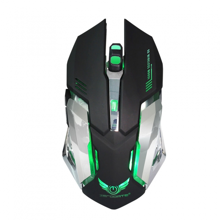 Rechargeable X70 7 LED Backlit Wireless USB Optical Gaming Mouse Mice 2.4GHz black one size