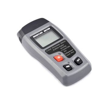 BSIDE EMT01 Digital LCD Display Wood Moisture Meter Humidity Tester Detector gray one size