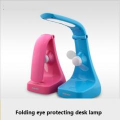 Fan lamp \ learning, work, bedroom bedside lamp LED\ eye folding creative mini lamp