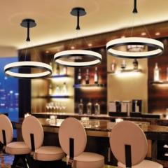 New Acrylic Contemporary Chandeliers Modern Led pendant Light Lamp white lighting Single circle40cm