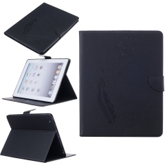 iPad 2 3 4 Case,TPU + Leather Printing Design Premium PU Leather Slim Flip Wallet (pattern 1) for ipad 2 3 4