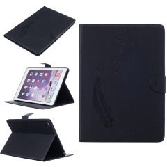 iPad Air 2(iPad 6) Case,Embossed Feather Series Folding Synthetic Leather Case with Card Money Slots (pattern 1) for ipad air 2 (ipad 6)