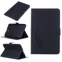 Galaxy Tab E 9.6 inch/SM-T560 Case,Embossed Feather with Card Money Slots Series (pattern 1) for t560 t561