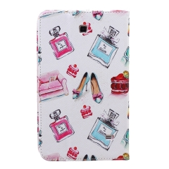 Galaxy Tab 4 7.0 SM-T230/T231/T235 Case,PU Leather Flip Stand with Card Slots Money Holder (pattern 1) for t230