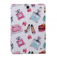 Galaxy Tab A 9.7 inch SM-T550 Case,PU Leather Flip Stand with Card Slots Money Holder (pattern 1) for t550