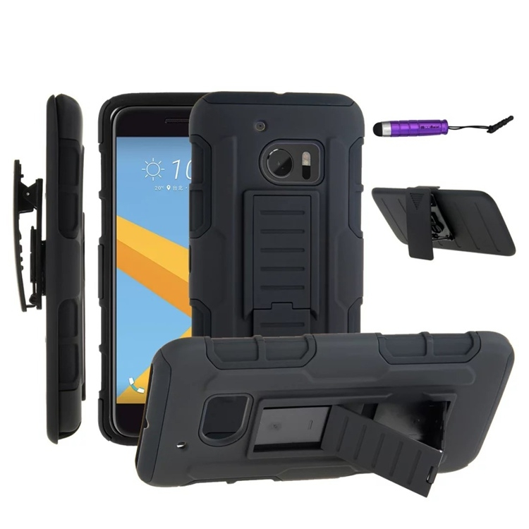 finest selection 7b40c 6674e HTC One M7 Case,M8 Case,M9 Case,M10 Case,626 Case,510 Case,530 Case,Dual  Layer Holster Case Cover black for HTC One M7