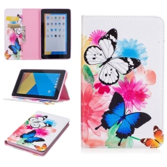 Amazon Fire 7 Tablet Case,PU Leather Flip Stand with Card Slots Money Holder (pattern 1) for Amazon Fire 7 Tablet