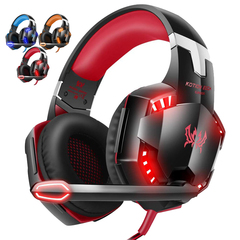 G2000 Gaming Headset, Surround Stereo Gaming Headphones -Red