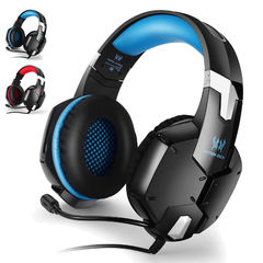 G1200 Gaming Headset Stereo Surround Sound Wired Headphones Earphone - Blue