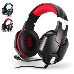 G1200 Gaming Headset Stereo Surround Sound Wired Headphones Earphone - Red