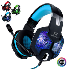 G1000 Gaming Headset with Mic Over Ear Headphones 3.5mm Jack - Blue