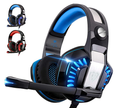 G2000(V2)Gaming Headset for Xbox One,PS4,PC,Laptop,Tablet with Mic,Pro over Ear Headphones - Blue