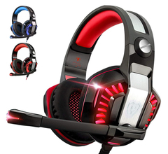 G2000(V2)Gaming Headset for Xbox One,PS4,PC,Laptop,Tablet with Mic,Pro over Ear Headphones - Red