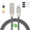 3.3Ft (1m) Type-C,USB Micro,USB Lightning Fast Charge Cord & Data Sync Metal Spring Shield Cord black type-c (USB C)