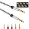 Aux Cord, 5Ft (1.5M) TRRS Male to Male 3.5mm Audio Cable, Auxiliary Audio Stereo Cable white