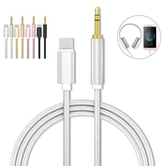 3Ft (1M) Type C to 3.5mm Audio Aux Jack Adapter, USB C Male to 3.5mm Male Adapter Cable white