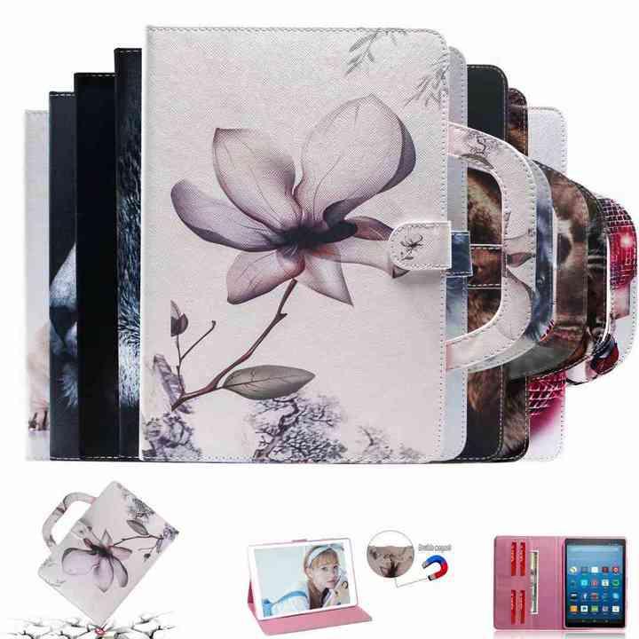 Samsung Galaxy T550 T350 T310 T815 T715 T377 T280 T560 T580 T385 T590/T595 T835 Tablet Wallte Case (Fierce tiger) for Galaxy Tab A 9.7