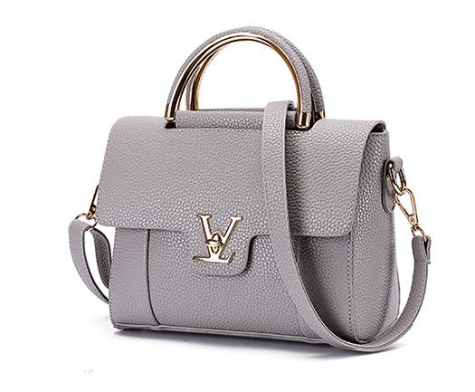 441c64bce43 The new wave of single shoulder fashion handbag Messenger bag handbag small  square bag gray one