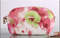 The new high-grade PU leather color large capacity clutch bag inclined package pink one size