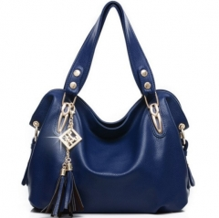 The new women 's leisure shoulder bag ladies Hand-held cross-large bags blue one size