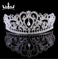 MR.S Baroque Crown Alloy Rhinestone Jewelry Bride Crown