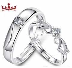 MR.S Fashion angel wings couple ringing personality wings couple ring