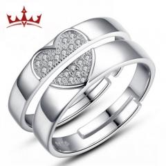 MR.S Heart of love couple lovers Korean creative love-shaped diamond ring
