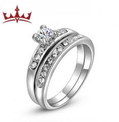 MR.S  Oden Diamond Ring Set 2pcs ring  size 5/6/7/8/9 lovers gift