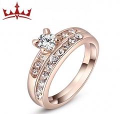 MR.S Oden Diamond rose golden Ring Set 2pcs ring size 5/6/7/8/9 lovers gift