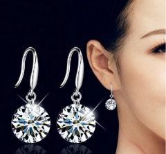 MR.S zircon earrings Korean Korean fashion earrings silver one size