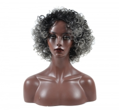 Silver headdress black short wig headdress small headdress as the picture one size