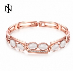 MR.S Korean diamond crystal cat's eye bracelet rose golden rose golden one size
