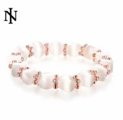 MR.S Korean diamond  cat's eye bracelet rose golden one size rose golden one size