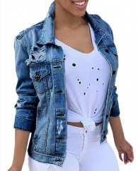New Denim Jacket Fashion Denim Jacket dark blue m