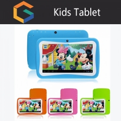 Children learn tablet 7inch Android student wireless WIFI learning tablet 4G blue