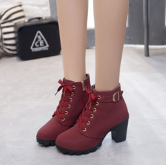 MR.S  Clearance Sale Ankle Boots Women'S Shoes Causal Martin Boots Shoes Maroon 35
