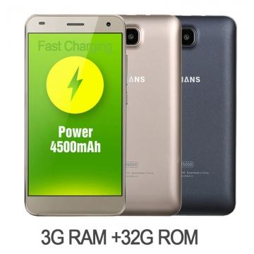 """UHANS S1 Fingerprint Lock 5"""" 32G ROM 3G RAM 16+8million Android 6.1  2800mAh Smart Phone KK0100 white"""