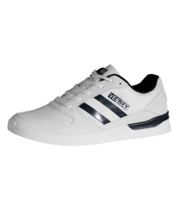 Trendy Versey Casual Fashion Sneakers with a White/Navy Blue Upper Lining Men Shoes white 9598-41