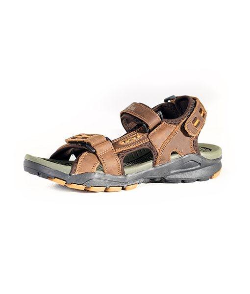 Rukana Simple Lightweight Rugged Outdoor NUBUCK Leather Sandals Men Shoes brown 9617-43