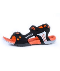 ADZA Active  Colorful Tough Rubber Sandals Men's Shoes Black/Orange AD-38-43