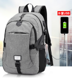 Men's backpack for laptop usb load computer bags style casual bags great businessman travel backpack black 17
