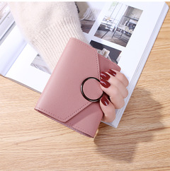 Women Wallets Small Fashion Brand Leather Purse Women Ladies Card Bag For Women pink one size