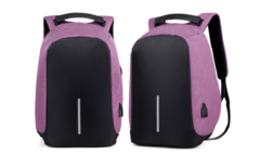 Laptop Backpack sleeve case bag Waterproof USB Charge Port Schoolbag Hiking Travel bag purple 17