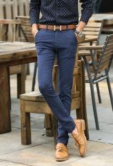 2017 spring new arrive models pants black blue business cotton men's casual straight pants blue 31