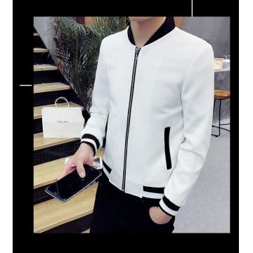 High quality men jacket spring autumn cotton bomber jacket casual brand men's jacket coat clothing white 3xl