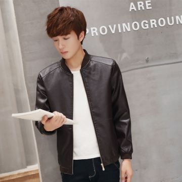Motorcycle Leather Jackets Men Autumn Winter Leather Clothing Male casual Coats Brand clothing coffee 3xl